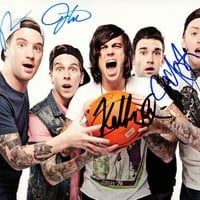 SLEEPING WITH SIRENS Feel SIGNED Autographed PHOTO Print POSTER Kellin Quinn 007