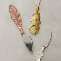Langholm Cheese Knives by Anthropologie Bronze Cheese Knives Flatware