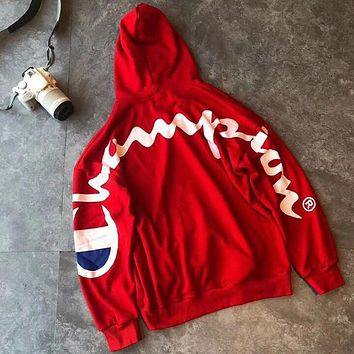 Champion Woman Men Fashion Top Sweater Pullover Hoodie