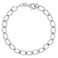 925 Sterling Silver Classic Charm Bracelet fits Toddlers to Young Girls