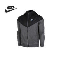 Original Nike AS NIKE FLEECE MIX-RU WR men's jacket Hooded sportswear