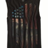 AEO Men's Photo Real Muscle T-shirt (Sunset Black)