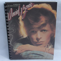 """DAVID BOWIE Notebook -  """"Young Americans"""" (1975) - Recycled Record Album Cover"""