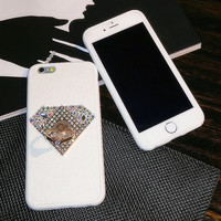 High Quality Glitters Handmade Sparkle Soft Phone Case for iphone 6 6s for iphone 6 6s  plus with Mobile Phone Straps