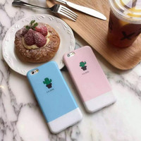 Candy colored small cactus phone case for iPhone 6 6S 6plus 6Splus 1008J01
