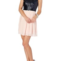 Sweet Sequined Party Dress