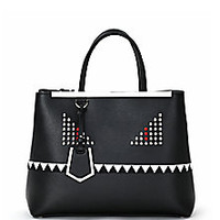 Fendi - 2Jours Monster Medium Studded Saffiano Leather Shopper - Saks Fifth Avenue Mobile