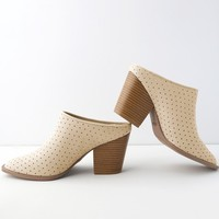 Vale Oatmeal Suede Mules