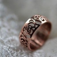 Shiny Gift Jewelry Stylish New Arrival Titanium Hollow Out Ring [6586145415]