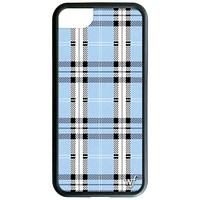 Wildflower Blue Plaid iPhone XR Phone Case