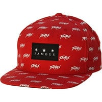 Famous Stars and Straps Mens Namesake Snapback Adjustable Hat/Cap One Size Red
