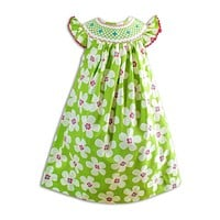 Spring Flower Smocked Dress