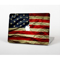 "The Dark Wrinkled American Flag Skin Set for the Apple MacBook Pro 15"" with Retina Display"