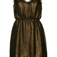 **METALLIC SLIP DRESS BY WYLDR