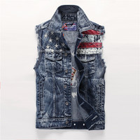 Beach Hot Denim Rinsed Denim Korean Vest = 6458353731