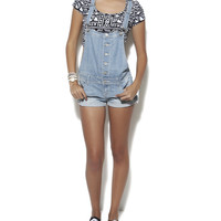 Roll Cuff Short Overalls | Shop Bottoms at Wet Seal