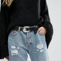 Pieces Stud Design Western Belt at asos.com