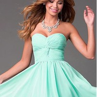 Buy discount Chic Chiffon Sweetheart Neckline A-line Homecoming Dresses at Dressilyme.com