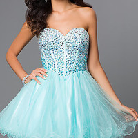 Strapless Sweetheart Fit and Flare Alyce Dress 3644
