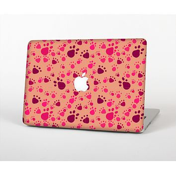 The Pink & Tan Paw Prints Skin Set for the Apple MacBook Air 13""