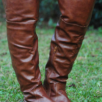 My Happy Place Boots: Brown