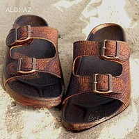 brown buckle jandals® - pali hawaii Jesus sandals