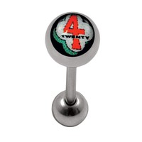 """14G 5/8"""" 420 Inlay Surgical Barbell"""