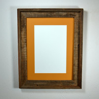 12x16 picture frame from reclaimed wood with gorgeous patina