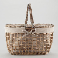 Gray Willow Picnic Basket - World Market