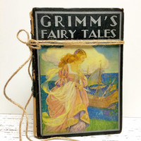 Grimms Fairy Tales, 1930s, Fairy Tale Book, Fairytale Book, Home Staging, Antique Fairy Tale Book ,Old Book, Photo Prop, Ephemera