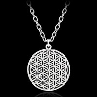 Vintage Myth Love Supernatural Flower of Life Egyptian Necklace Hollow Life Flower Pendant Necklace Unisex Personalized Jewelry