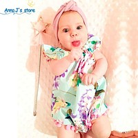 Baby Jumpsuit floral born Baby Clothes Cotton Sleeveless Girl Clothes baby Chiffon Sliders Baby Slippers