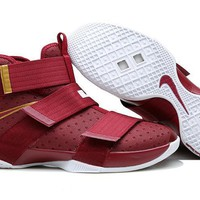 NIke Zoom LeBron James Soldiers 10 Basketball Shoes
