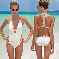 Halter Cut-Out Swimsuit