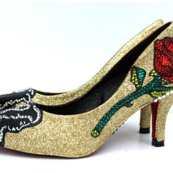 Beauty and the Beast 3 inch heels