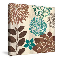 Abstract Garden Blue I Canvas Wall Art