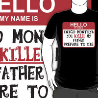 """The Princess Bride """"Hello My Name Is"""" by BUB THE ZOMBIE"""