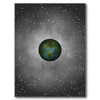 Interplanetary Connection. Galaxy Space Explorer Post Card from Zazzle.com