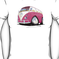 VW Splitty Camper Van Pink Women's T-Shirt