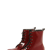 Alana Patent Lace Up Boots