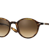 Ray Ban Round Brown Gradient Sunglasses RB4237 710/85 50