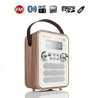 InstaBox i10 Digital FM Radio Multi-Functional MP3 Player Wooden Clock Radio