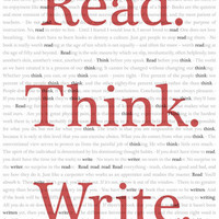 Read. Think. Write. Art Print by Better Classroom Posters | Society6