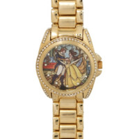 Disney Beauty And The Beast Stained Glass Watch