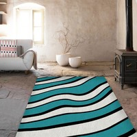 Waves Rugs - Modern Area Rug - Dorm rugs - Affordable area rugs