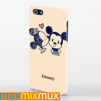 Minnie And Mickey Mouse Vintage iPhone 4/4S, 5/5S, 5C Series Full Wrap Case