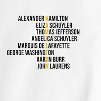 Alexander Hamilton Broadway Play NYC New York Text tee t-shirt