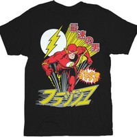 The Flash Japanese Black Adult T-Shirt