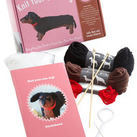Handmade & DIY Knit Your Own Dog Kit in Dachshund by ModCloth