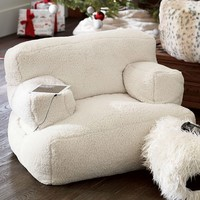 Ivory Sherpa Eco Lounger Speaker Media Chair